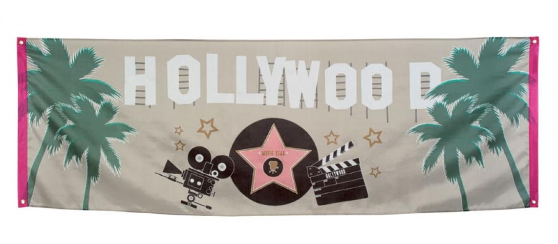 Hollywood thema vlag 74 x 220 cm