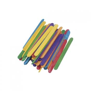 Houten gekleurde knutsel stokjes 11 cm