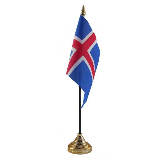 IJsland vlag met standaard