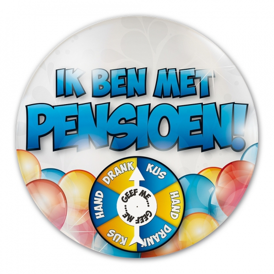 Ik ben met pensioen button