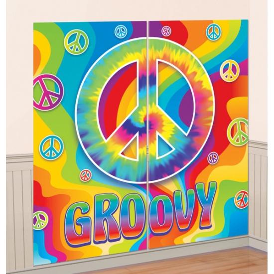 Jaren 60 groovy decoratie 165 x 82 cm