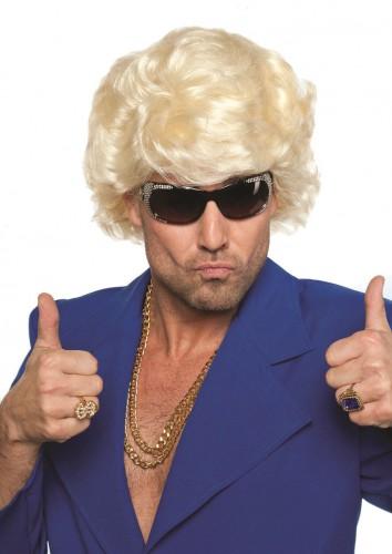 Jaren 60 pruik voor mannen blond