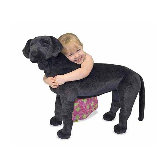 Jumbo zwarte labrador knuffel 79 cm