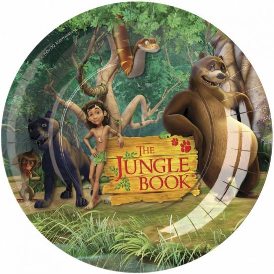 Jungle Book thema borden 8 stuks