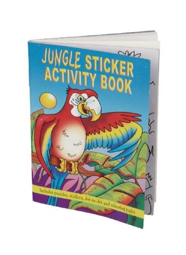 Jungle kleurboeken met puzzels