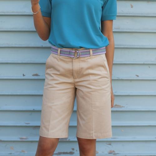 Kaki dames shorts