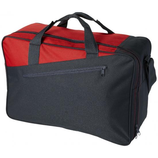 Kantoor tas grijs rood