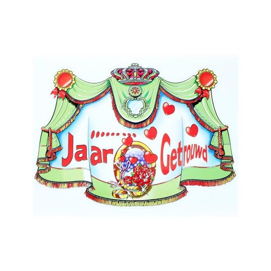 Kartonnen kroonschild ... jaar getrouwd