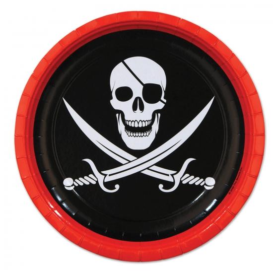 Kartonnen piraten bordjes