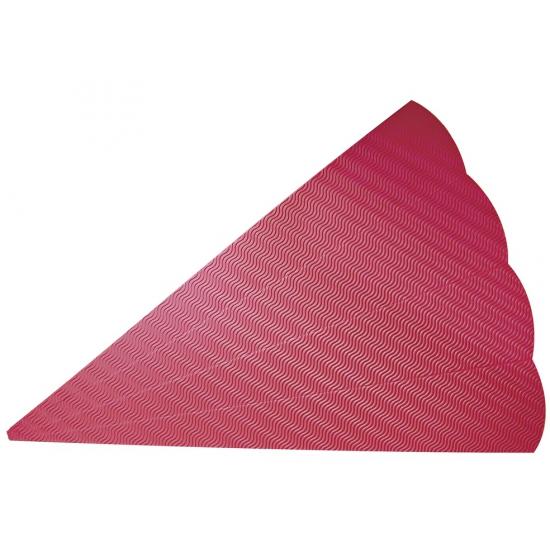 Kartonnen schoolzak rood 68 cm