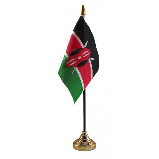 Kenia vlag met standaard