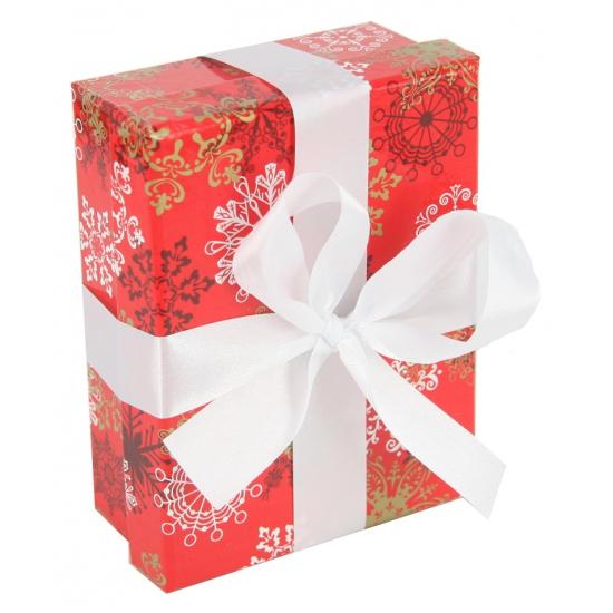 Kerst decoratie kadootje rood 14 cm