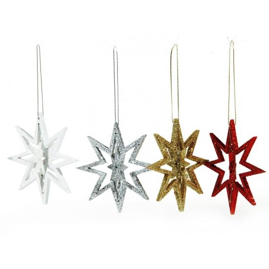Kerst decoratie ster 10 cm