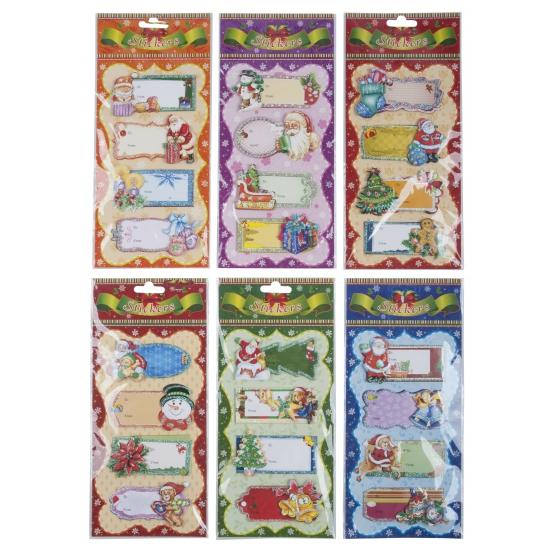 Kerst stickers voor op cadeaus