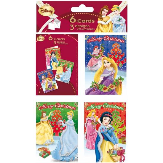 Kerstkaarten van Princess 6 stuks