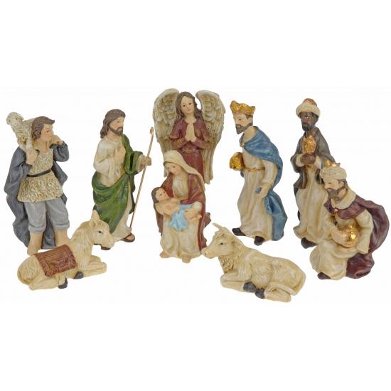 Kerststal beeldjes 9 stuks