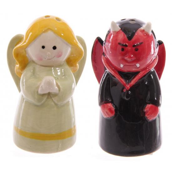 Keuken peper en zout stel engel en duivel
