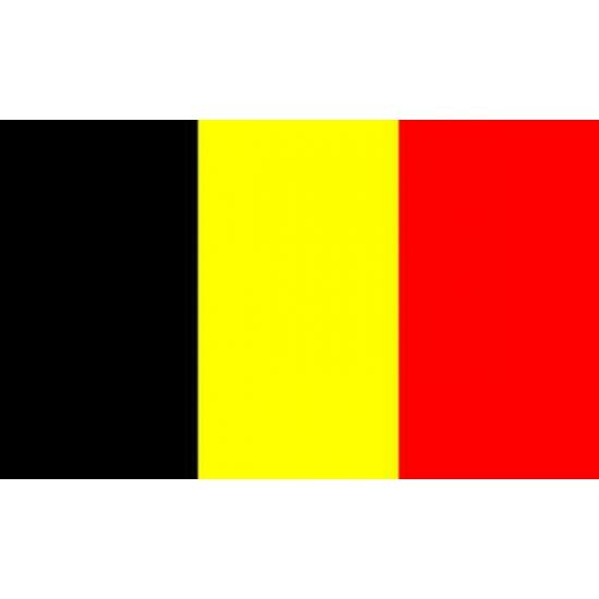 Kleine vlag van Belgie 60 x 90 cm