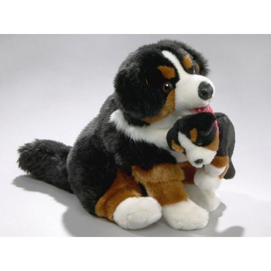 Knuffel hondjes Berner Sennen 30 cm