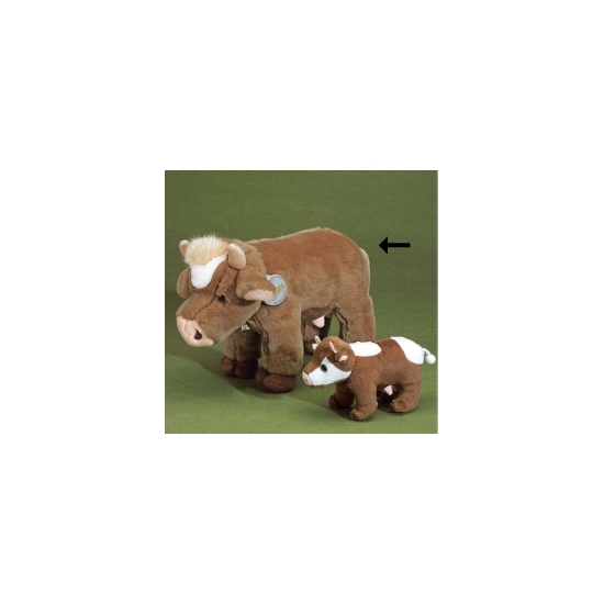 Knuffel koe bruin 30 cm