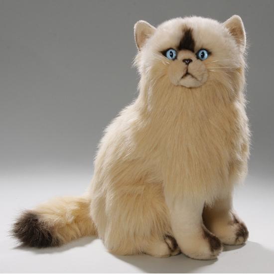 Knuffel zittende persische kat 35 cm