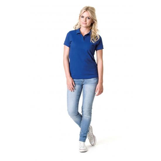 Kobalt blauwe dames poloshirts