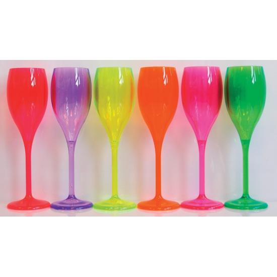 Kunststof glas fluoriserend oranje