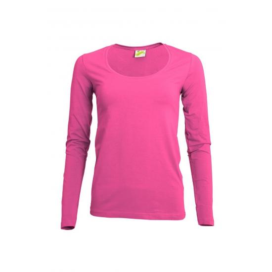 Lange mouwen fuchsia dames shirt