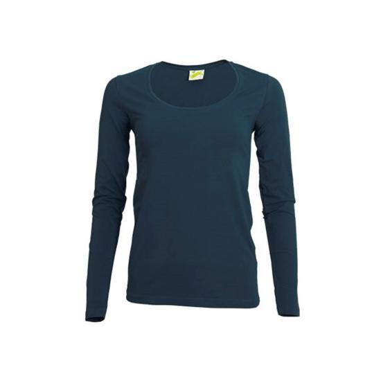 Lange mouwen navy dames shirt