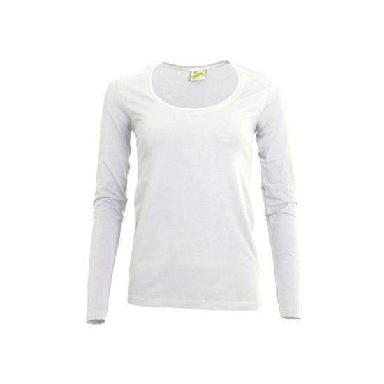 Lange mouwen wit dames shirt
