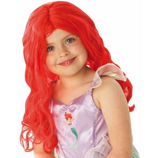 Lange zeemeermin pruik rood voor meiden