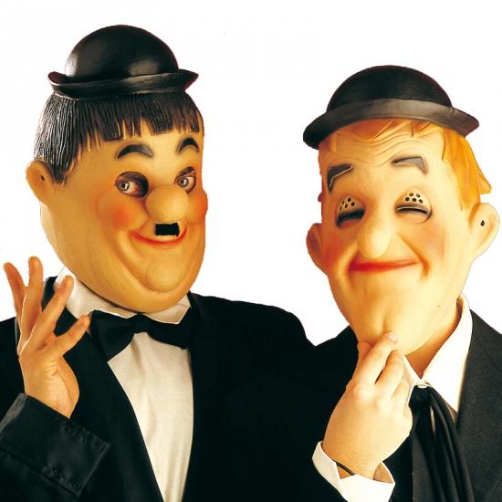 Laurel en Hardy feestmaskers