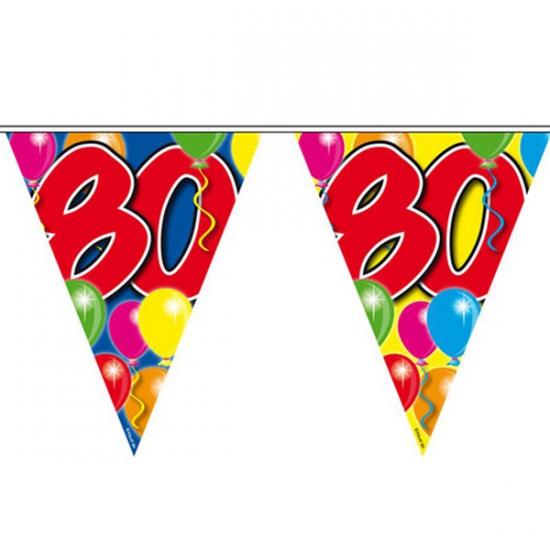 Leeftijd vlaggenlijnen 80 jaar