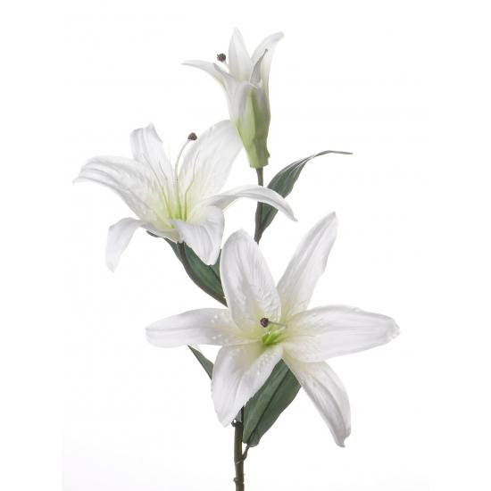 Lelie kunstbloemen wit 87 cm