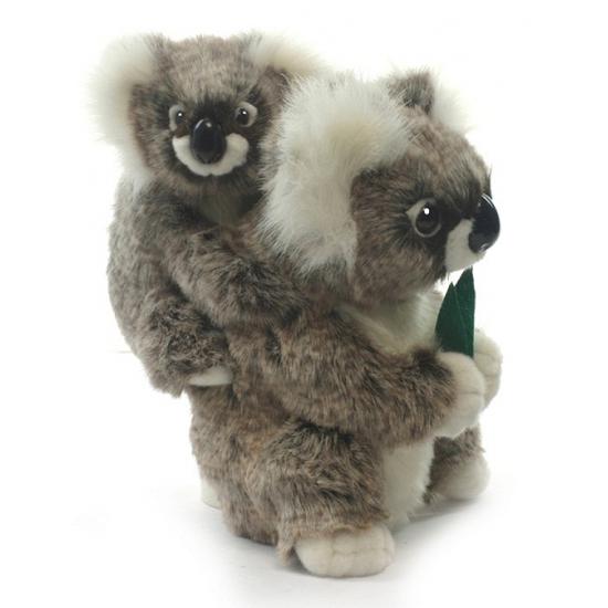 Levensechte pluche koala met baby 28 cm