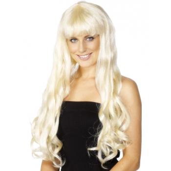Licht blonde pruik met krullen
