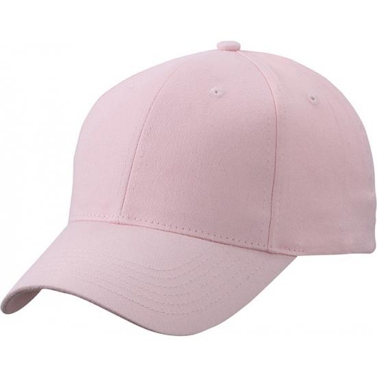 Lichtroze baseball cap van katoen