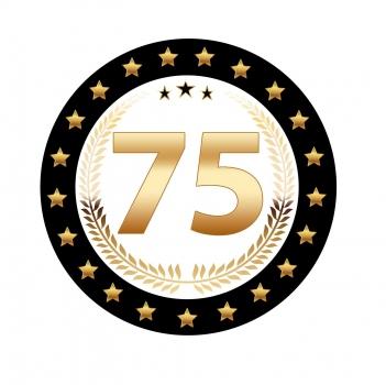 Luxe 75 geworden bierviltjes