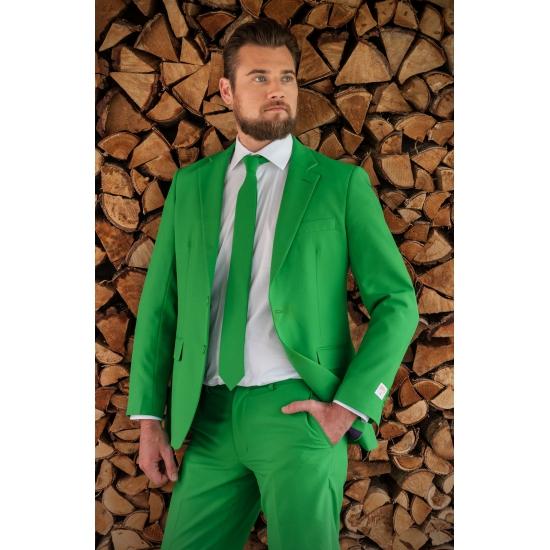 Luxe kostuum voor heren groen