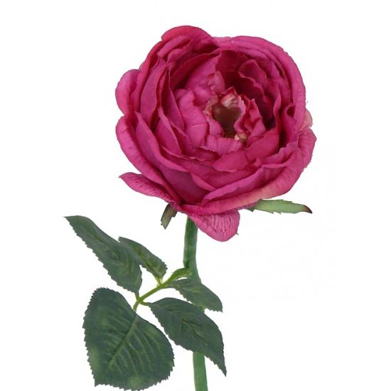 Luxe kunst rozen rood 33 cm