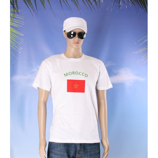 Marokkaanse vlaggen shirts
