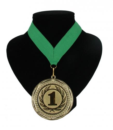 Medaille nr  1 halslint groen