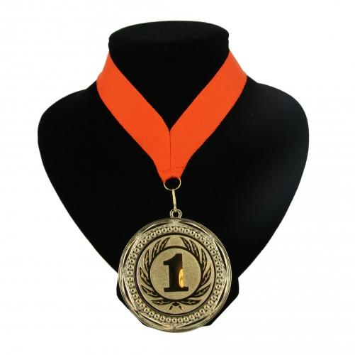 Medaille nr. 1 halslint oranje