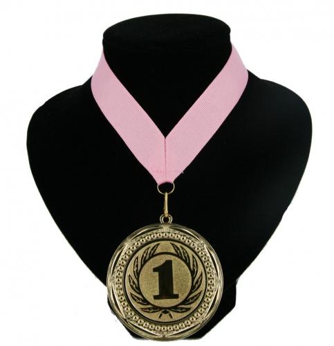 Medaille nr  1 halslint roze