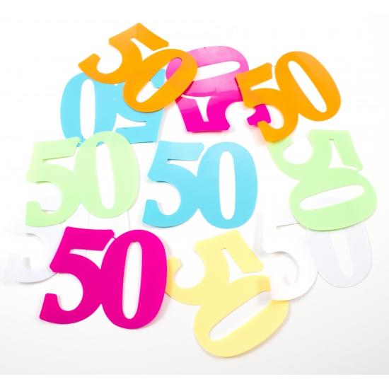 Mega confetti 50 jaar versiering