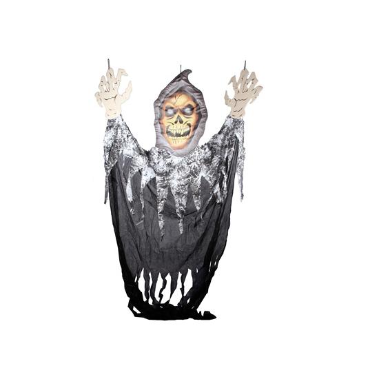 Mega skelet decoratie gordijn 300 cm