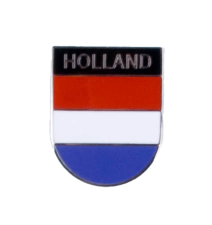 Metalen Hollandse vlag pin