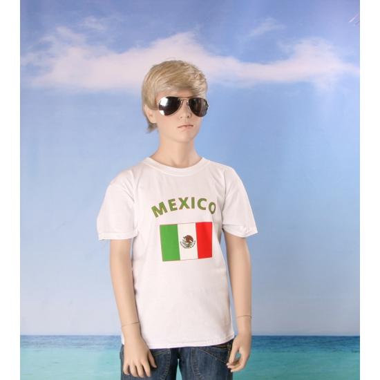 Mexicaans vlaggen t shirt voor kinderen