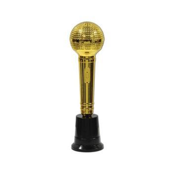 Microfoon award goud gekleurd