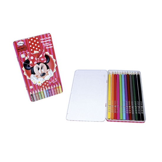 Minnie Mouse kleurpotloden in blik